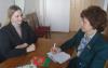 Е.Л. Борисевич и В.В. Ражанец во время обсуждения вопросов молодежной политики и внесения изменений в Конституцию Республики Беларусь
